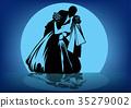 silhouette wedding couple 35279002