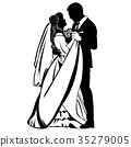 dance wedding silhouette 35279005