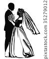 dance wedding silhouette 35279012