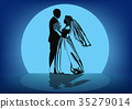 dance wedding silhouette 35279014