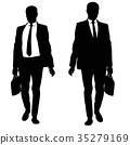 silhouette, business, suit 35279169