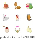 easter, icon, vector 35281389