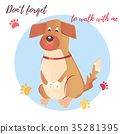 Dogs professional services. Cartoon dog character 35281395