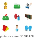 Ball game icons set, cartoon style 35281428
