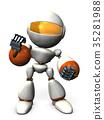 握拳 强壮 机器人 35281988