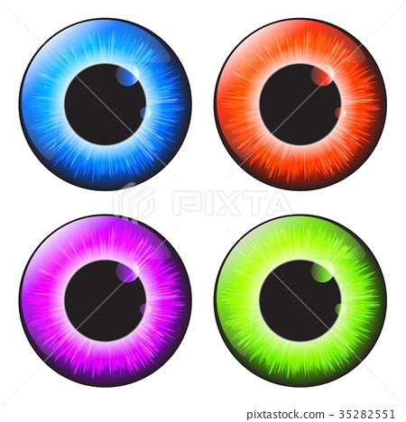 iris eye realistic  vector set design  35282551