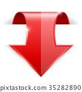紅色 紅 箭頭 35282890