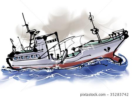 Tuna fishing boat 35283742