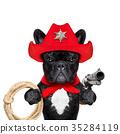 cowboy western sheriff dog 35284119