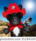cowboy western sheriff dog 35284500