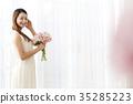 젊은여자,부케,웨딩 35285223