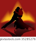 Silhouetted Couple Dancing 35285276