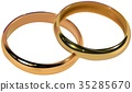 Two Gold Wedding Rings 35285670