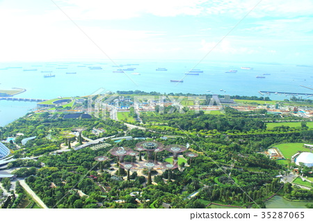 Marina Bay Sands Rooftop View Super Tree Grove 35287065