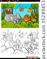 coloring, book, illustration 35289853