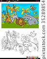 coloring, book, animal 35289854