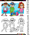 children pupil characters coloring book 35289858