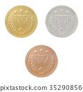 Gold, silver, bronze medals set 35290856