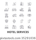 Hotel services, room service, tourism 35291036