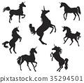 Silhouettes of Unicorns 35294501