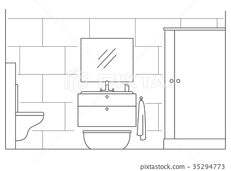 Bathroom. Shower, mirror, toilet.  35294773