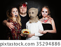Halloween Family. Father, Mother and Children 35294886