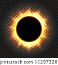 Total solar eclipse icon on transparent 35297326