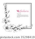 Flower frame of Sakura. 35298419