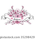Flower ribbon of Sakura. 35298429