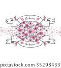 Flower ribbon of Sakura. 35298433