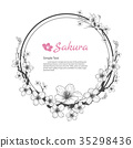 Flower frame of Sakura. 35298436