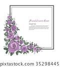 Flower frame of Rose. 35298445