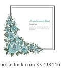 Flower frame of Rose. 35298446