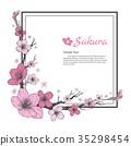 Flower frame of Sakura. 35298454