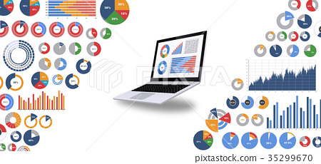 Laptop computer and business materials 35299670