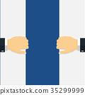 Businessman open door-Vector Flat Design 35299999