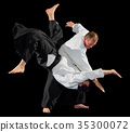 Martial arts fighters isolated 35300072
