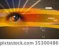 眼睛 目光 線條 35300486