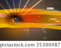 eye digital color 35300487