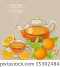 orange, illustration, tea 35302484