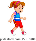 Little girl dancing alone 35302884