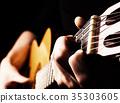 Playing flamenco guitar 35303605