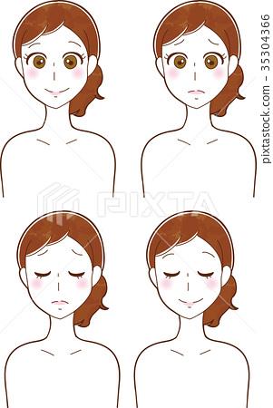 例證圖像材料套婦女的秀麗和護膚 35304366