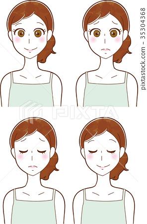 例證圖像材料套婦女的秀麗和護膚 35304368