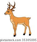 Illustration of Deer Cartoon -Vector Illustration 35305095