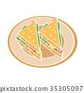 Illustration of Sandwich -Vector Illustration 35305097