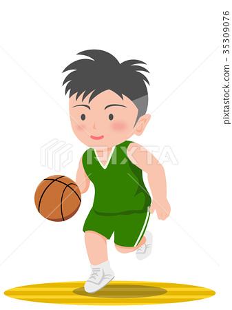 Basketball dribbling 35309076