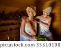 sauna, girl, relax 35310198