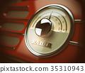 Old  radio background. Vintage style. 35310943