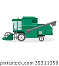 녹색, 벡터, 수확 35311359
